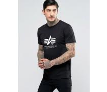 T-Shirt mit Logo in regulärer Passform, schwarz Schwarz