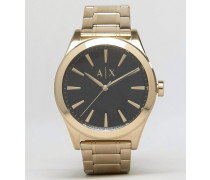 AX2328 Edelstahl-Armbanduhr in Gold Gold