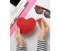 Geldbörse mit Herzmotiv Rot