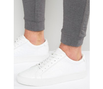 Sneaker mit Strauß-Print Weiß