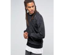 Sweatshirt mit Abnutzungen Schwarz