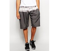 Shorts mit Karomuster Grau