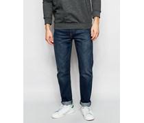 Levi's 522 Schmal zulaufende Jeans in dunkle Littlefield Worn-Waschung Blau