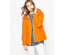 Wasserfeste Jacke mit Vordertaschen Orange