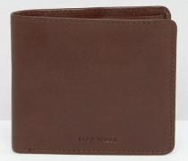 Schokoladenbraune Leder-Brieftasche Braun