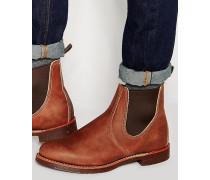 Rancher-Chelsea-Stiefel aus Leder Braun