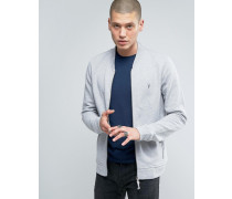Jersey Bomber Sweatshirt-Jacke Grau