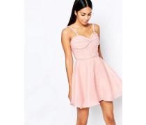 Ballkleid mit plissierter Brustpartie Rosa