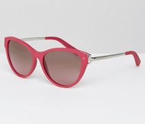 Katzenaugen-Sonnenbrille Rosa