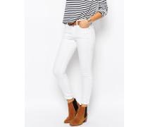 Enge Jeans mit hohem Bund Weiß
