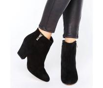 Orla Stiefel mit mittelhohem Absatz und seitlichem Reißverschluss Schwarz