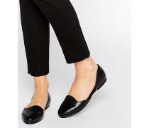 2-teilige, flache Schuhe Schwarz