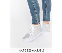 DUKESchnürturnschuhe mit hohem Knöchel Silber