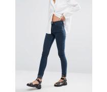 Body Superenge Jeans mit hohem Bund Marineblau