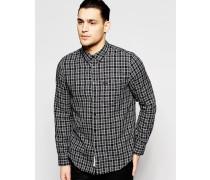 Button-Down-Hemd Schwarz