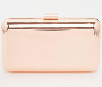 Hartschalen-Clutch in Metallic Kupfer