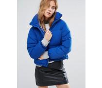 Wattierte, kastenförmige Jacke Blau