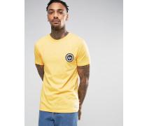 T-Shirt mit Wappenlogo Gelb