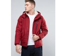 Allwetter-Kapuzenjacke mit Teddyfutter in Rot Rot