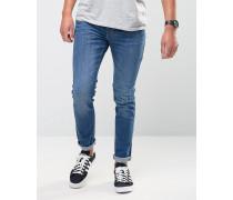Jeans in mittlerer Waschung, enge Passform Blau