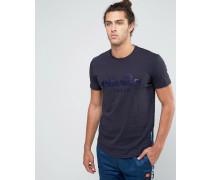 Italia T-Shirt mit großem Logo Grau