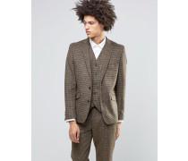 Heritage Braun karierte Anzugjacke aus hochwertiger Woll- und Kaschmirmischung Braun