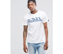 T-Shirt mit großem Logo Weiß