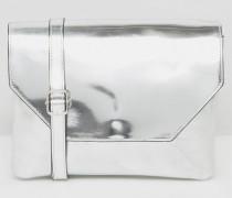 Umhängetasche in Metallic Silber