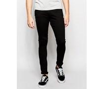 Lunar Superenge, schwarze Jeans Schwarz