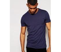 T-Shirt in regulärer Passform Marineblau