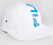 Runner Kappe mit großem Logo und verstellbarem Knebelverschluss Weiß