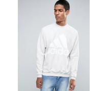 AX9930 Pullover aus schwerem Frottee mit Rundhalsausschnitt Weiß