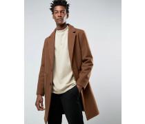 Mantel aus Wollmischung in Braun Braun