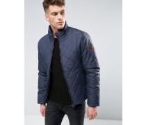 Wattierte Jacke mit Rautenmuster Marineblau