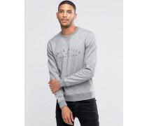 Sweatshirt mitPrint und Raglanärmeln, Kalkgrau Grau