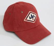 Rote Baseballkappe mit Logo Rot