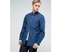 Klassisches Jeanshemd in Yama-Blau Blau