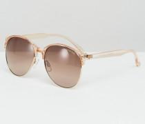 Selfie Sonnenbrille mit runden Gläsern Braun