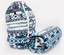 Strandtasche und Tuch Mehrfarbig