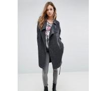 Mantel in Trenchcoat-Optik Grau