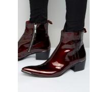 Sylvian Stiefel mit Reißverschluss Rot