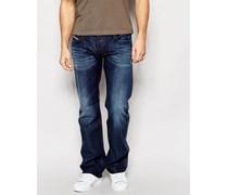 Zatiny 806U Bootcut-Jeans in dunkler Vintage-Waschung Blau