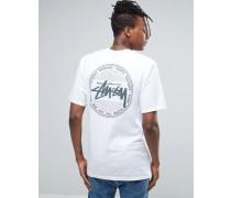 T-Shirt mit Vintage-Rückenprint Weiß