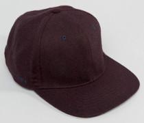 Baseball-Kappe aus Wolle Rot
