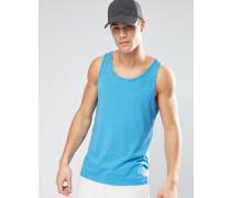 Trägershirt mit Ausbrennereffekt Blau