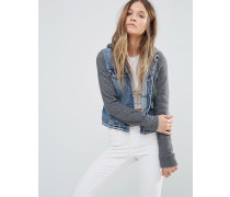 Jeansjacke mit Kapuze Blau