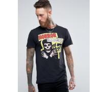 Schwarzes T-Shirt mit Aufdruck 'The Misfits Schwarz