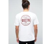 Cowen T-Shirt mit Logo-Print hinten Weiß
