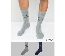 Socken mit Vintage-Logo im 2er Pack, bunt Mehrfarbig