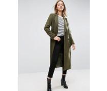 Mantel aus einer Wollmischung im Military-Look Grün